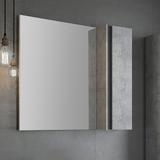 Зеркало-шкаф Comforty Эдинбург 90 бетон светлый