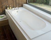 Мраморная ванна Эстет Лаура 170х70