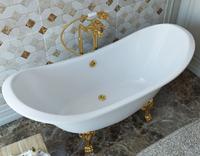 Мраморная ванна Эстет Скарлетт 180х77