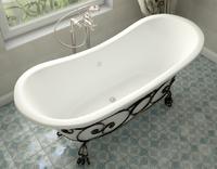Мраморная ванна Эстет Бостон 180х74