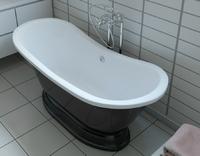 Мраморная ванна Эстет Бостон 180х74 на подиуме
