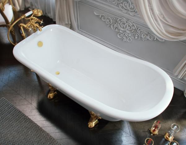Мраморная ванна Эстет Царская 150х73
