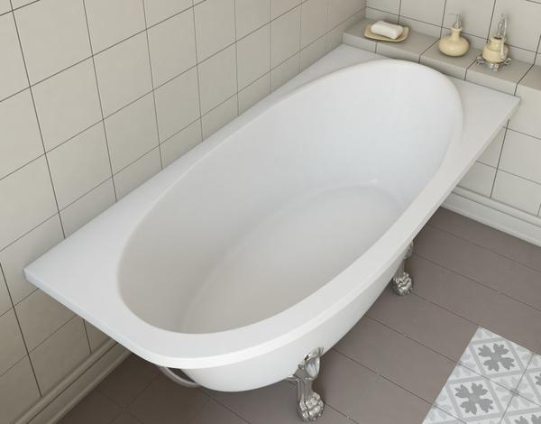 Мраморная ванна Эстет Венеция 170х80 правая