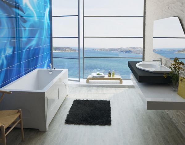Мраморная ванна Эстет Дельта 150х70