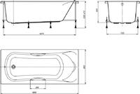 Мраморная ванна Jacob Delafon Elite 170х70
