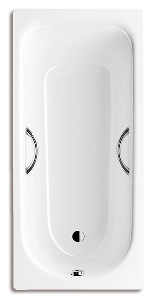 Стальная ванна Kaldewei Advantage Saniform Plus Star 336 с покрытием Anti-Slip и Easy-Clean