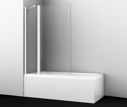Шторка на ванну Wasserkraft Berkel 48P02-110 White Fixed