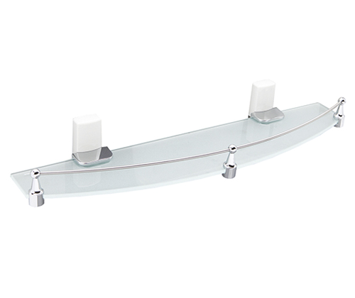 Полка стеклянная Wasserkraft Leine K-5044 White