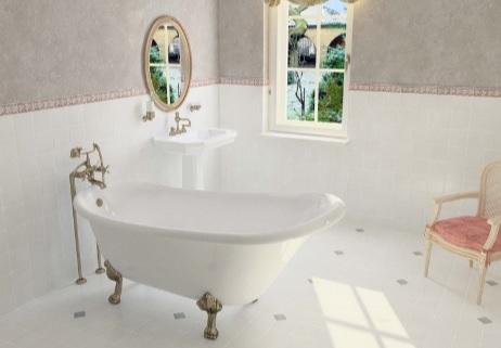 Мраморная ванна Астра-Форм Роксбург 170х79