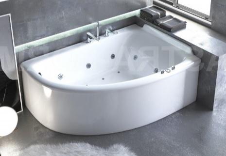 Мраморная ванна Астра-Форм Анастасия 182х125 правая