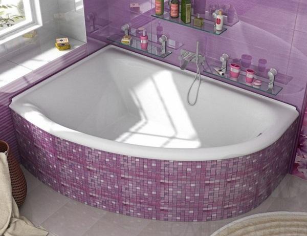 Мраморная ванна Marmo Bagno Альба 170х110 левая