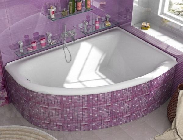 Мраморная ванна Marmo Bagno Альба 170х110 правая