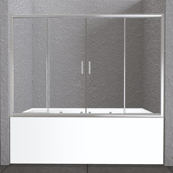 Шторка на ванну BelBagno UNIQUE-VF-2-150/180-140-P-Cr