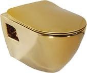 Унитаз подвесной Creavit Single TP325 золото