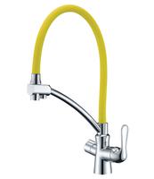 Смеситель для кухни Lemark Comfort LM3070C-Yellow