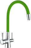 Смеситель для кухни Lemark Comfort LM3075C-Green