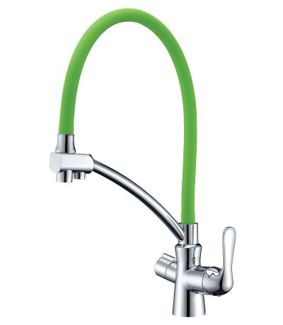 Смеситель для кухни Lemark Comfort LM3070C-Green
