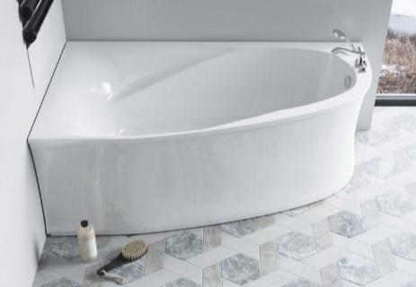 Мраморная ванна Астра-Форм Селена 170х100 левая