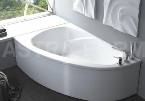Мраморная ванна Астра-Форм Тиора 155х105 левая