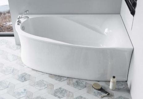 Мраморная ванна Астра-Форм Селена 170х100 правая
