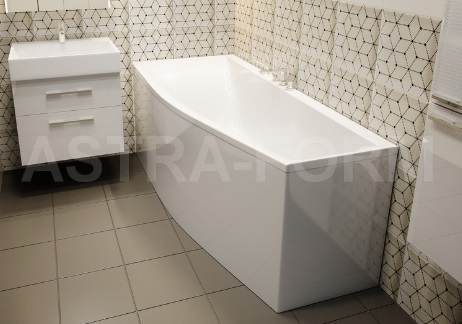 Мраморная ванна Астра-Форм Скат 170х75 левая