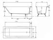 Ванна чугунная Jacob Delafon Parallel 170х70