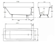 Ванна чугунная Jacob Delafon Parallel 170х70 с ручками