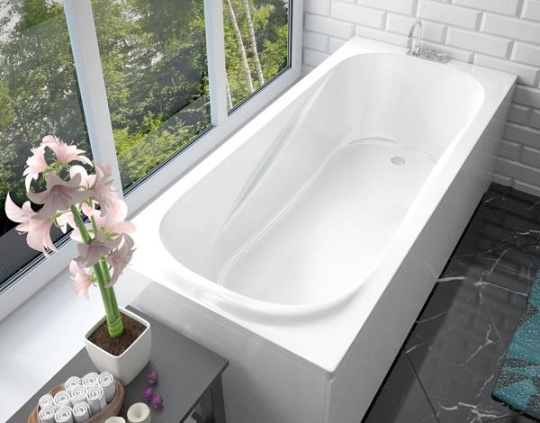 Мраморная ванна Эстет Альфа 170х75