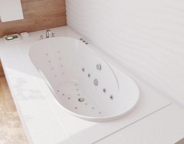 Мраморная ванна Эстет Астра 170х80