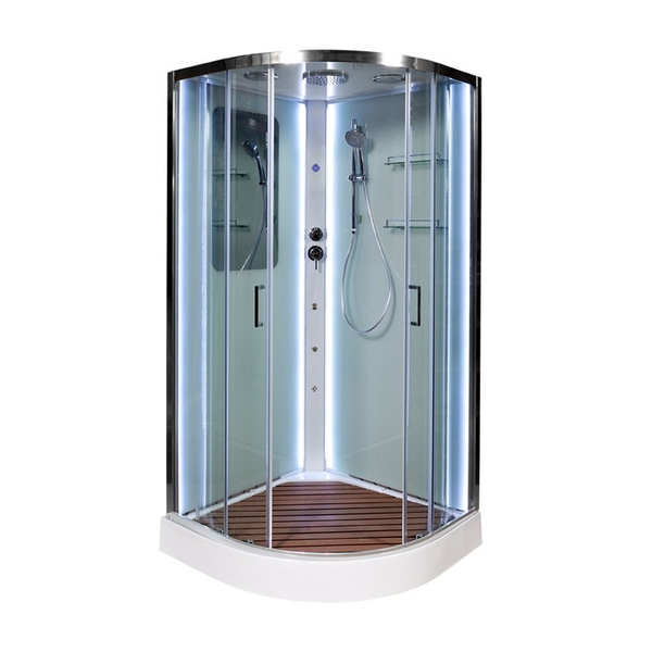 Душевая кабина Deto А01 LED с кнопкой и гидромассажем