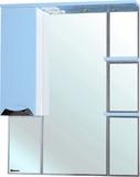 Зеркало-шкаф Bellezza Белла Люкс 85 L голубой