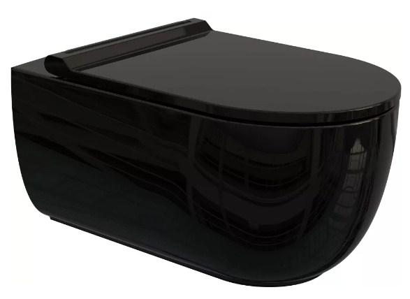 Унитаз подвесной Bien Vokha MDKA052N1VP0B9000 безободковый черный глянец
