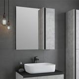 Зеркало-шкаф Comforty Эдинбург 75 бетон светлый