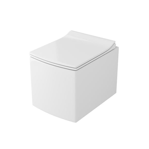 Унитаз подвесной безободковый OWL Cube Ruta-H с сиденьем DP микролифт