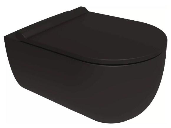 Унитаз подвесной Bien Vokha MDKA052N1VP0B7000 безободковый черный матовый