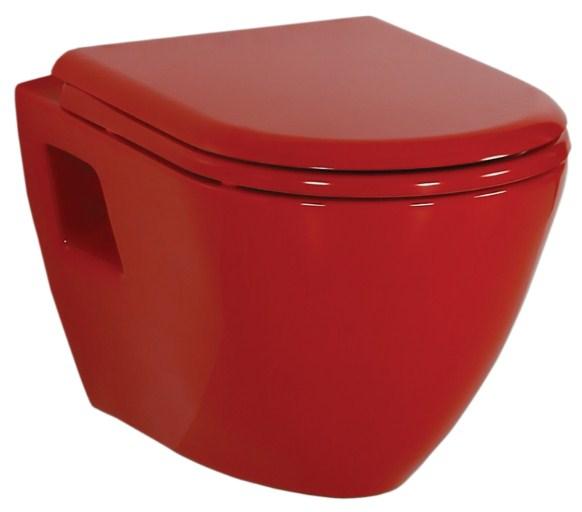 Унитаз подвесной Creavit Terra TP325 красный