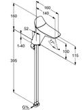 Зеркало-шкаф Dreja Max 60 белый, с подсветкой