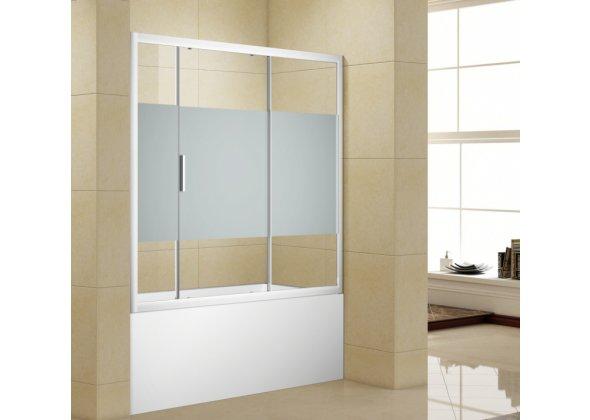 Шторка на ванну Aquanet Practic AE10-B-160H150U-CP прозрачное стекло