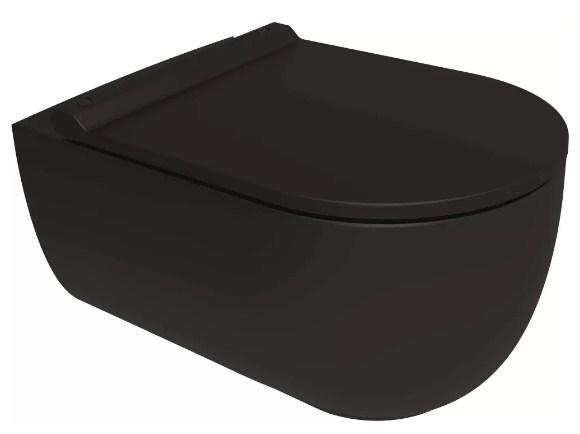 Унитаз подвесной Bien Vokha MDKA052N1VP1B7000 безободковый, с функцией биде, черный матовый